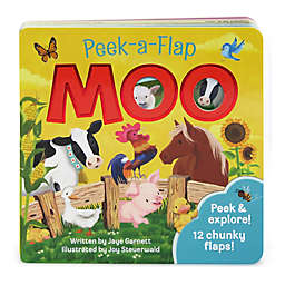 "Peek-A-Flap Board Book: ""Moo"" by Jaye Garnett"