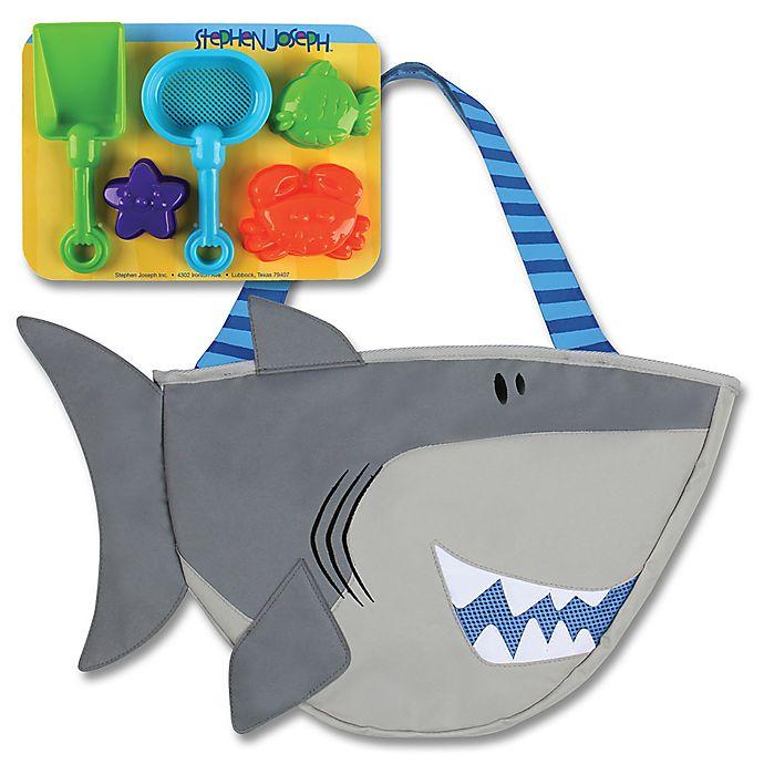 Alternate image 1 for Stephen Joseph® Shark Beach Tote in Grey