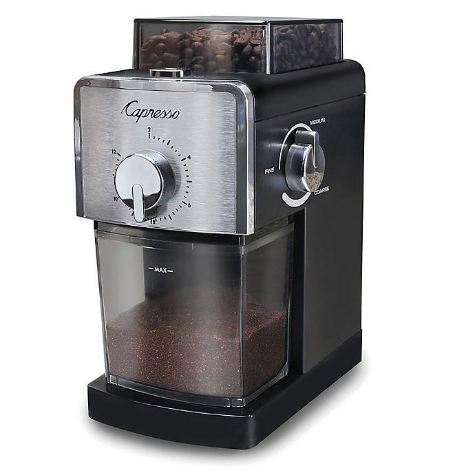 Alternate image 1 for Capresso® Coffee Burr Grinder in Black/Stainless Steel