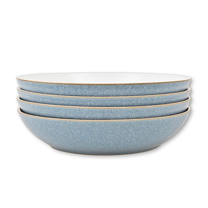 Alternate image 1 for Denby Elements Pasta Bowls in Blue (Set of 4)