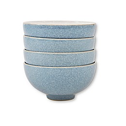 Denby Elements Rice Bowls in Blue (Set of 4)