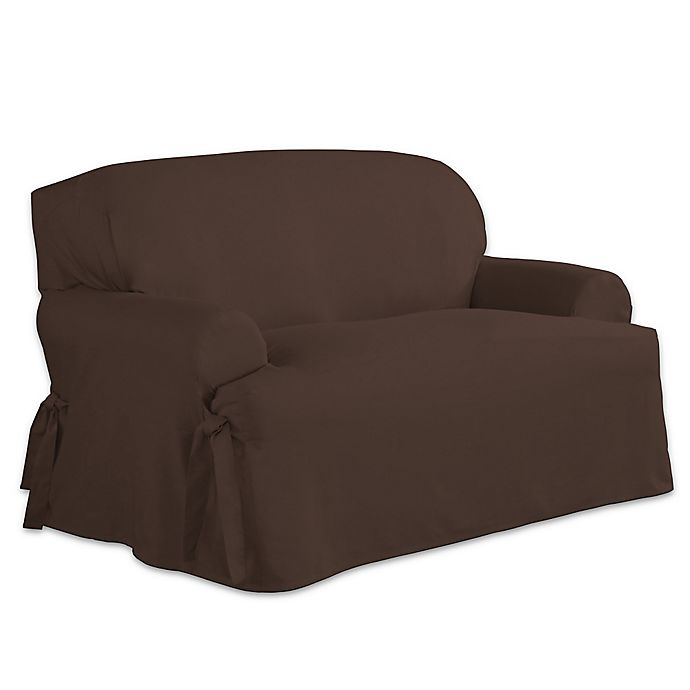 Stupendous Perfect Fit Relaxed Fit Cotton Duck T Cushion Loveseat Creativecarmelina Interior Chair Design Creativecarmelinacom