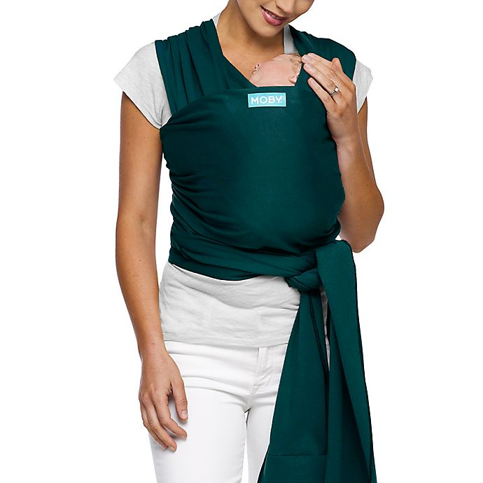 Alternate image 1 for Moby® Wrap Classic Modern Baby Carrier in Pacific