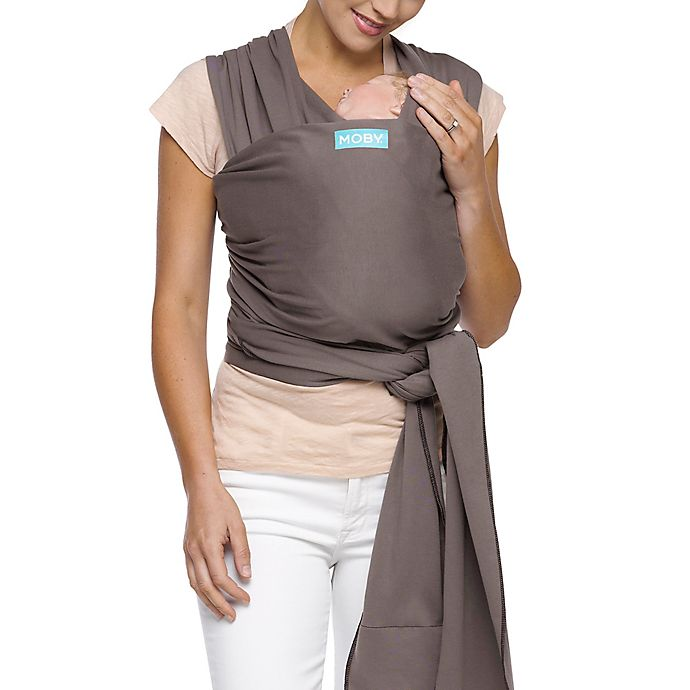 Alternate image 1 for Moby® Wrap Classic Modern Baby Carrier in Slate