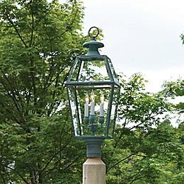 Lazy Hill Farm Designs Old Colony Lantern in Verde Brass