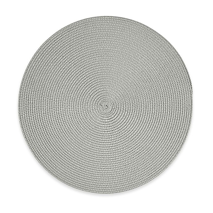 Alternate image 1 for Round Placemat in Silver