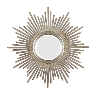 Stratton Home Decor 32 Inch Round Alexandra Wall Mirror In Gold Bed Bath Beyond