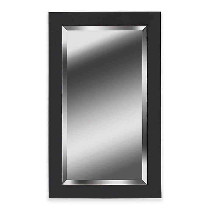 Alternate image 1 for Kenroy Home 24-Inch x 40-Inch Ice Mirror in Black