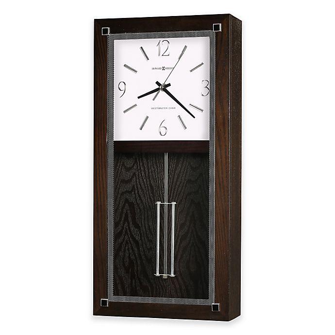 Howard Miller Reese Wall Clock In Black Coffee Bed Bath