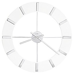 Howard Miller® Pearl Round Wall Clock in Gloss White
