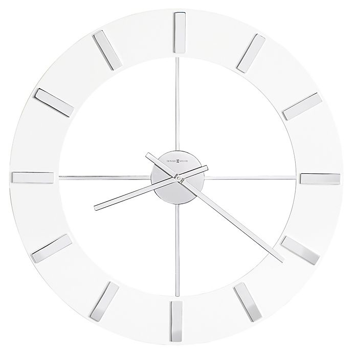 Alternate image 1 for Howard Miller® 30-Inch Pearl Round Wall Clock in Gloss White
