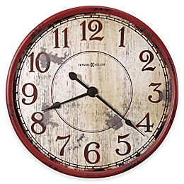 Howard Miller Back 40 Wall Clock in Antique Red