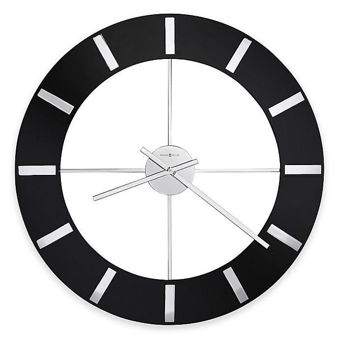 Alternate image 1 for Howard Miller® 30-Inch Onyx Wall Clock in Glossy Black
