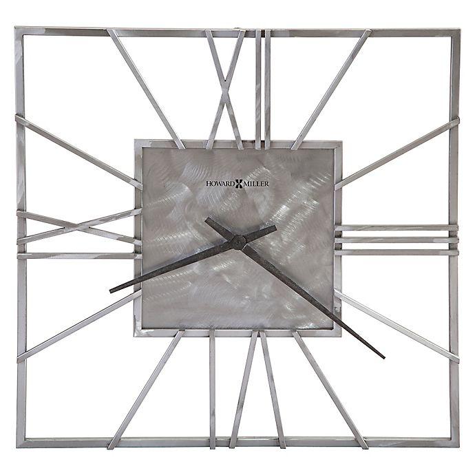 Alternate image 1 for Howard Miller® 24-Inch Lorain Square Wall Clock in Steel