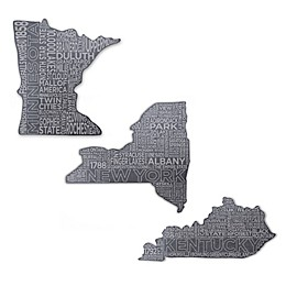 Top Shelf Living State Etched Slate Cheese Board