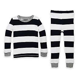 Burt's Bees Baby® 2-Piece Rugby Stripe Organic Cotton Pajama Set in Navy