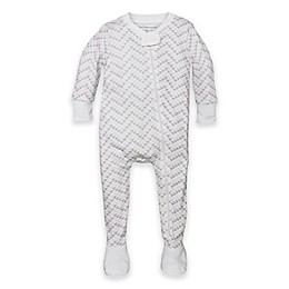 Burt's Bees Baby® Organic Cotton Chevron Footed Pajama in Pink