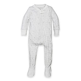 Burt's Bees Baby® Organic Cotton Alphabet Bee Footed Pajama in Grey