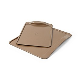 Simply Calphalon® Nonstick 2-Piece Cookie Sheet Set in Toffee
