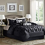 Madison Park Laurel 7-Piece King Comforter Set in Black