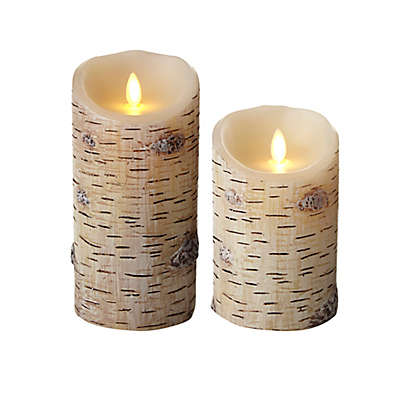 Luminara® Birch Flameless Pillar Candle