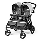 Peg Perego Book for Two Double Stroller in Atmosphere Grey
