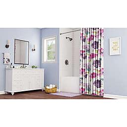 Contemporary Watercolor Floral Bathroom