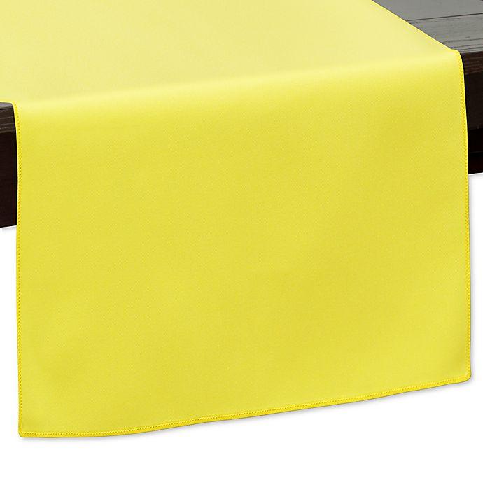 Alternate image 1 for 120-Inch Indoor/Outdoor Twill Table Runner in Lemon