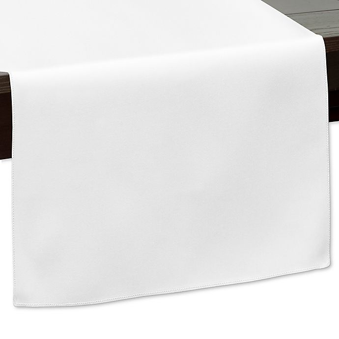 Alternate image 1 for 90-Inch Indoor/Outdoor Twill Table Runner in White