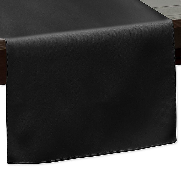 Alternate image 1 for 90-Inch Indoor/Outdoor Twill Table Runner in Black