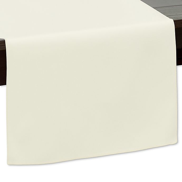 Alternate image 1 for 120-Inch Indoor/Outdoor Twill Table Runner in Ivory