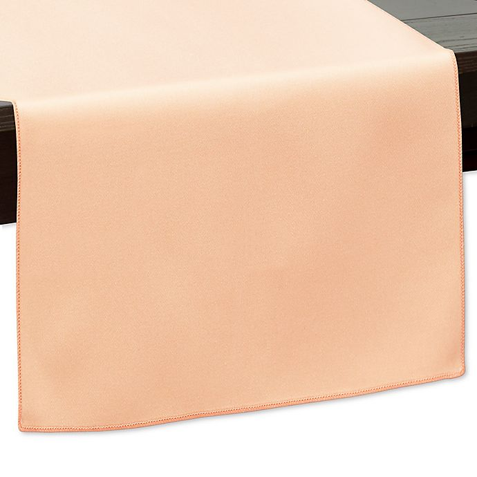 Alternate image 1 for 120-Inch Indoor/Outdoor Twill Table Runner in Peach