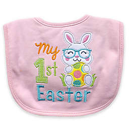 "Hamco ""My First Easter"" Applique Bib in Pink"