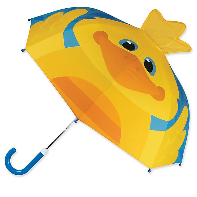 Alternate image 1 for Stephen Joseph® Duck Pop Up Umbrella in Yellow