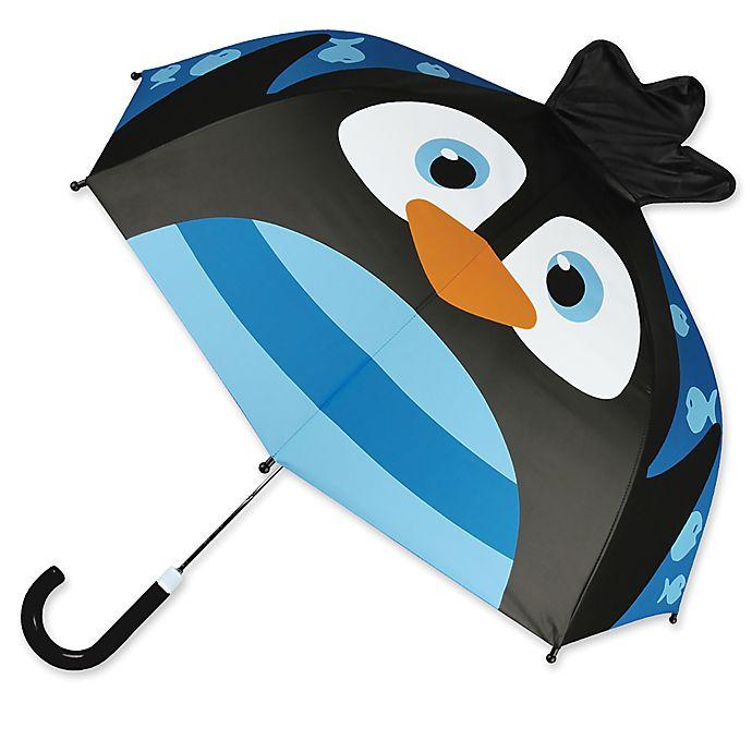 Alternate image 1 for Stephen Joseph® Penguin Pop Up Umbrella in Black