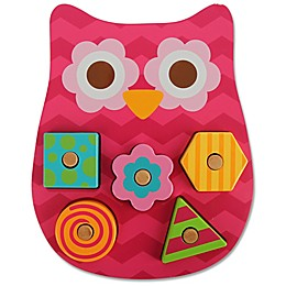 Stephen Joseph® Owl Shaped Wooden Peg Puzzle in Pink