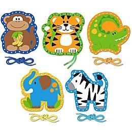 Stephen Joseph® Zoo Lacing Cards (Set of 5)