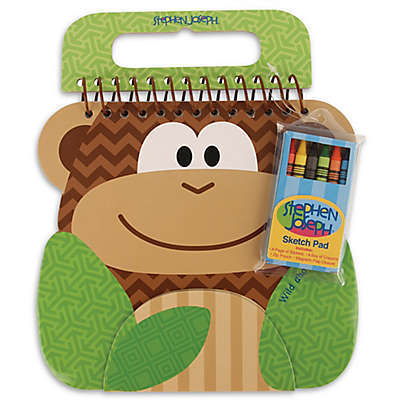 Stephen Joseph® Monkey Sketch Pad in Brown