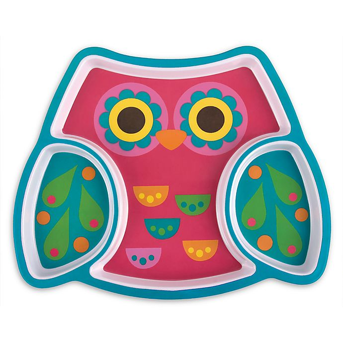 Alternate image 1 for Stephen Joseph® Melamine Owl Tray in Pink