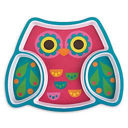 Stephen Joseph® Melamine Owl Tray in Pink