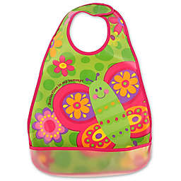 Stephen Joseph® Butterfly Wipeable Bib in Pink
