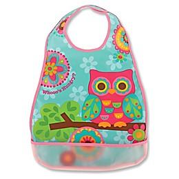 Stephen Joseph® Owl Wipeable Bib in Pink