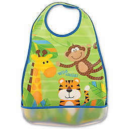 Stephen Joseph® Monkey Wipeable Bib in Blue