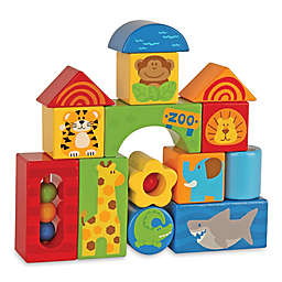 Stephen Joseph® Zoo Animals 14-Piece Wooden Block Set
