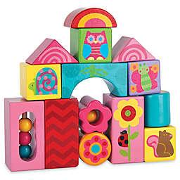 Stephen Joseph® Garden Animals 14-Piece Wooden Block Set