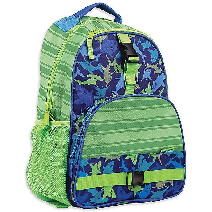 Alternate image 1 for Stephen Joseph® Shark Backpack in Green