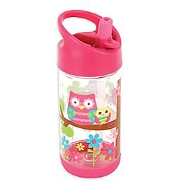Stephen Joseph® Owl Flip Top Bottle in Pink