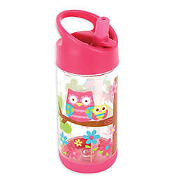 Stephen Joseph® Owl Flip Top Bottle in Pink