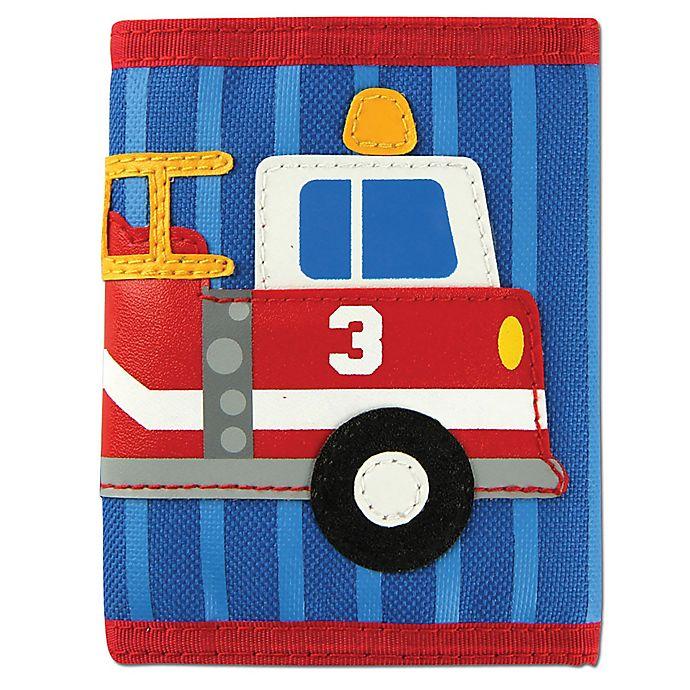 Alternate image 1 for Stephen Joseph® Fire Truck Wallet in Blue