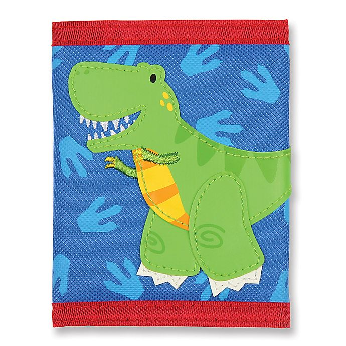 Alternate image 1 for Stephen Joseph® Dino Wallet in Blue